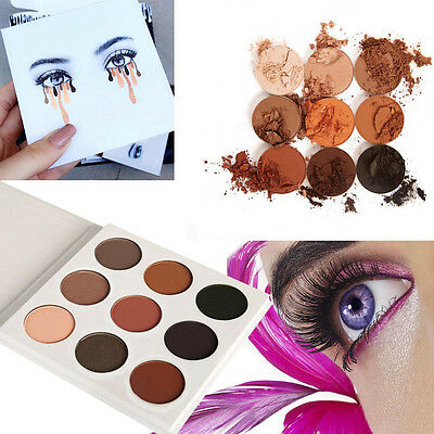 HOT 9 Colors Eye Shadow Makeup Cosmetic Shimmer Matte Eyeshadow Palette Set BF