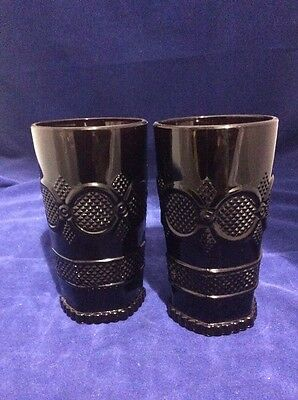 Vintage AVON - CAPE COD COLLECTION TALL BEVERAGE SET of 2 Tumblers RUBY RED  NOS