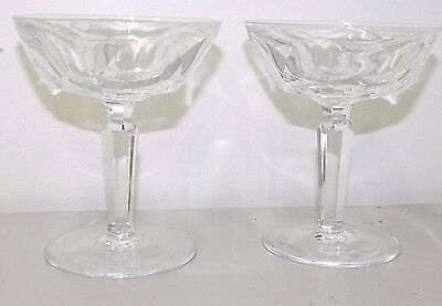 Vintage Waterford Set Of 2 Wine Champagne Glasses Curraghmore Cut Rare