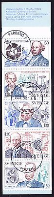 Sweden 1976 - Technology Pioneers Booklet Complete - CTO - SB 312