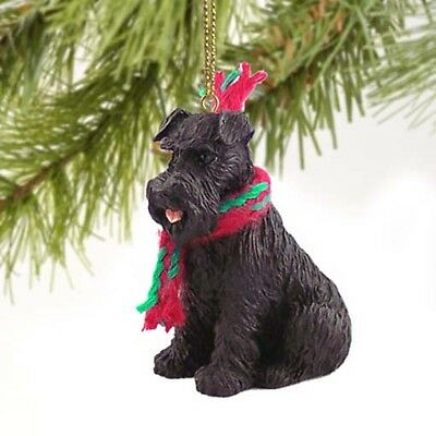 SCHNAUZER Black UnCropped Ears Dog Tiny One Miniature Christmas Holiday ORNAMENT