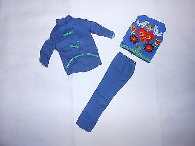 Vintage Skipper Fun Time #1920 Clothing~Embroidered Top Jacket Pants