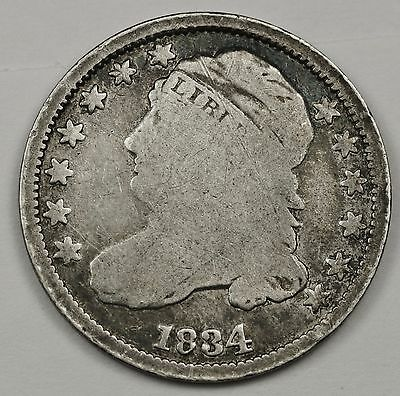1834 Bust Dime.  Circulated.  101114