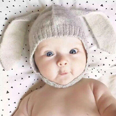 Cute Baby Toddler Winter Beanie Warm Hat Hooded Scarf Earflap Knitted Cap USA