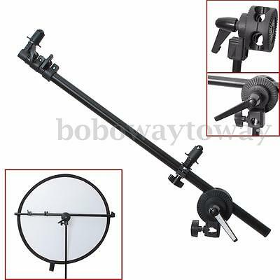 AU Studio Photo 55-175cm Swivel Head Reflector Disc Holder Arm Bracket Support