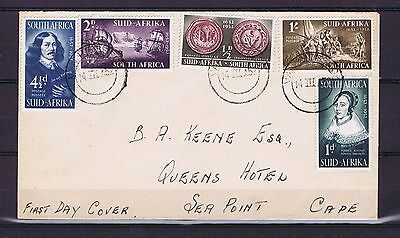 C0004 SOUTH AFRICA 1952 The 300th Anniversary of the Landing of Van Riebeeck FDC