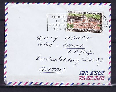 C0007 IVORY COAST 1959 Structures air mail cover to Austria
