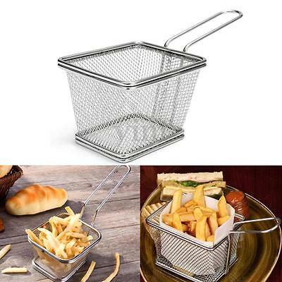 Stainless Steel French Deep Fryers Basket Net Mesh Fry Fries Chip Kitchen Tool