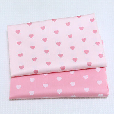 One PCS Cotton Fabric Pre-Cut Quilt Cloth Fabric for Sewing Heart-shaped S22