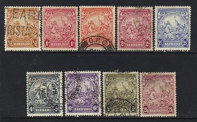 Barbados 1938-1947 Definitives 9 Used Values