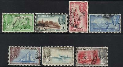 Barbados 1950 Definitives 7 Used Values Cat £15+