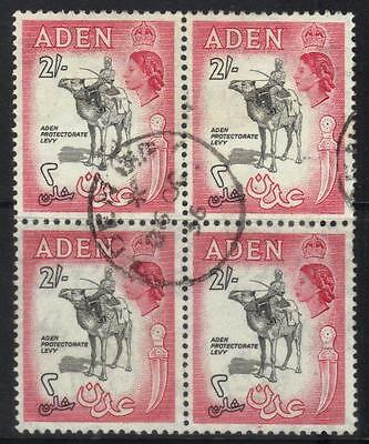 Aden 1953-1963 Definitives Sg66 Used Block Of 4