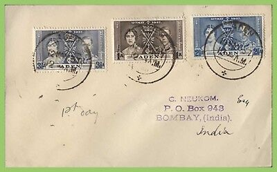 Aden 1937 KGVI Coronation set on First Day Cover