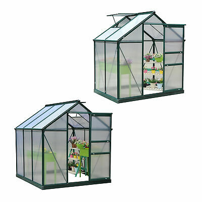 Portable Green House Polycarbonate Greenhouse Plant Garden 2 Sizes