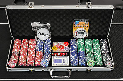 Tournament Poker Chips - 500 Piece Numbered Poker Set Free Extras