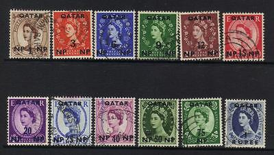 Qatar 1957-1959 Definitives Used Cat £19+