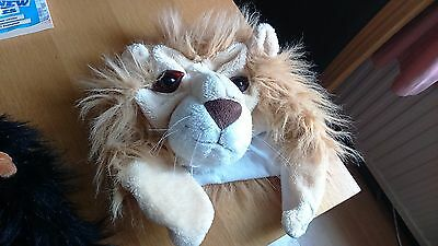 Childrens 3D Furry Fun Animal Lion Hat - Size 56 cms
