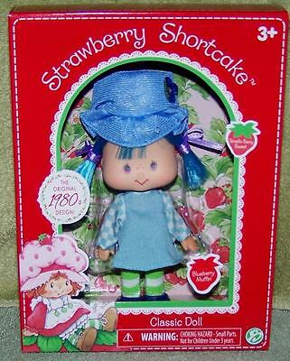 """Strawberry Shortcake Classic BLUEBERRY MUFFIN Doll 5.5""""H New"""