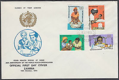 1973 Zambia World Health Organisation / WHO FDC; SHS