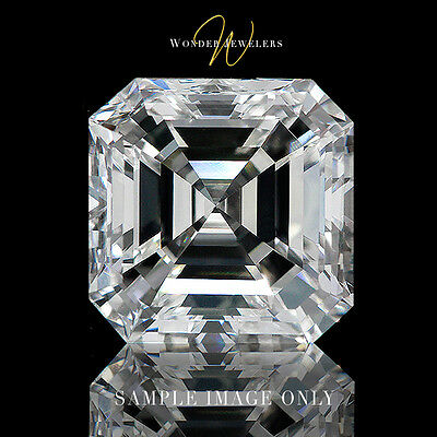 0.7Ct Natural Asscher Loose Diamond GIA Certified E/VS1 +Free Ring (1225527917)