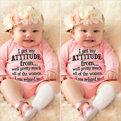 Cotton Newborn Infant Baby Girls Bodysuit Romper Jumpsuit Clothes Outfits 0-18M