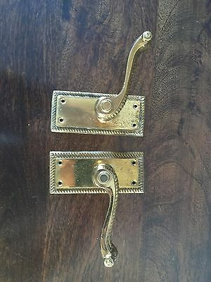 Antique set of 2 Stunning Metal Interia Door Handles