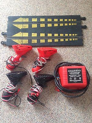 Classic Scalextric ,transformer,4  Controllers, Start line