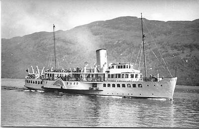 P.S.Maid of the Loch, Loch Lomond 18/6/57- Old Photo-  Mint Condition !