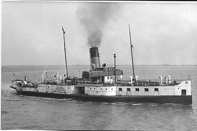 Lincoln Castle-Paddle steamer - Old Photo-  Mint Condition !