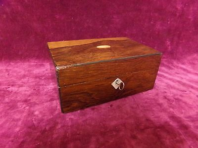 Antique Rosewood & Mother of Pearl Jewellery Box