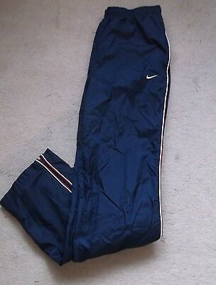 Men's Nike Track Bottoms In Blue  Size Large