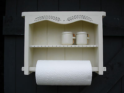 Kitchen Roll Holder,wall mounted, Shabby Chic, Hand made, Hand painted.
