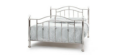 Ashley Crystal Bed In Nickel In 4 Sizes