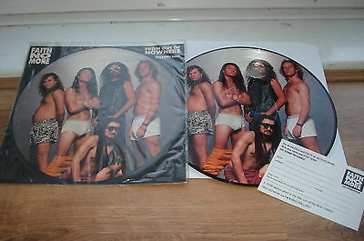 Faith No More From Out Of Nowhere PICTURE DISC NM VINYL! COMPLETE 1990 UK 12""