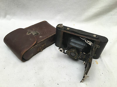 Vintage Rare Collectable Kodak No2 Folding Autographic Brownie Camera and Case