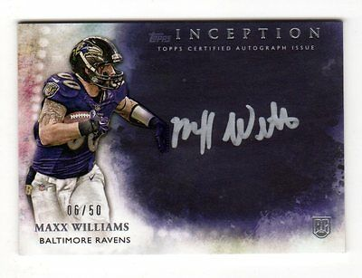 Maxx Williams Nfl 2015 Topps Inception Silver Signings (Baltimore Ravens) # /50