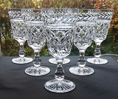 Lovely Set of Six Stuart Cut Cystal 5' Glasses Cheltenham Design