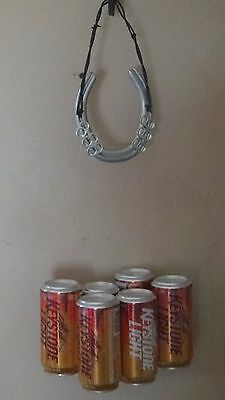 Recycled Aluminum Can Wind Chime  Keystone Light Orange