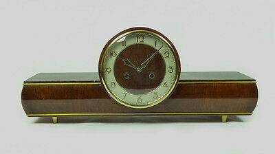 Very Rare Antique German Friedrich Mauthe mantel clock with Uhligs Waagependel