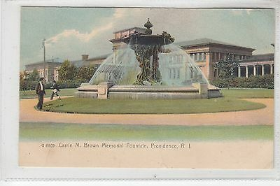 Color Carrie Brown Memorial Fountain Providence RI  Rotograph   G6869