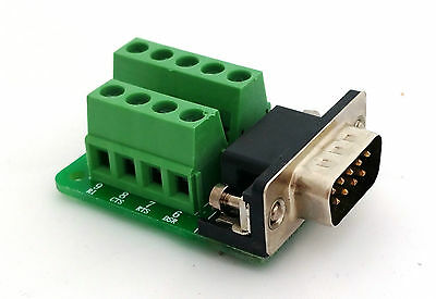 DB9 DSUB 9-pin Male Adapter RS-232 Breakout Board Connector D5: £4.75 FREE p&p
