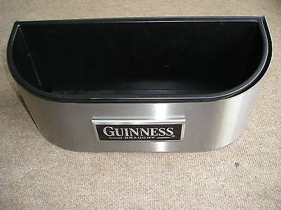 Guinness Draught Metal Ice Or Drip Bucket Thing With Plastic Tray Insert