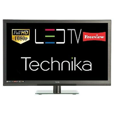 "Technika 24f22b-FHD 24"" Full HD 1080p Slim LED TV with Freeview HD USB Recording"
