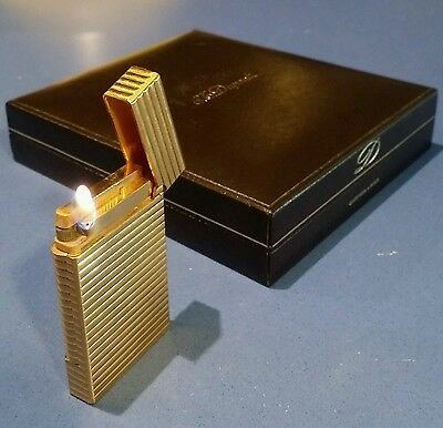 st. dupont lighter gold plated with box