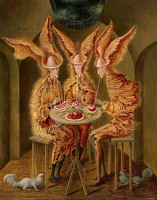 Remedios Varo Vampiros Vegetarianos Canvas 16 x 20   #6794