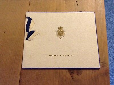 Vintage Christmas Card UK Govt Home Office Official 1920's/30's  Vgc