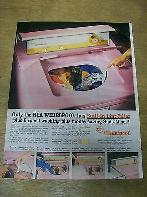 Original 1957 RCA Whirlpool Washer Magazine Ad