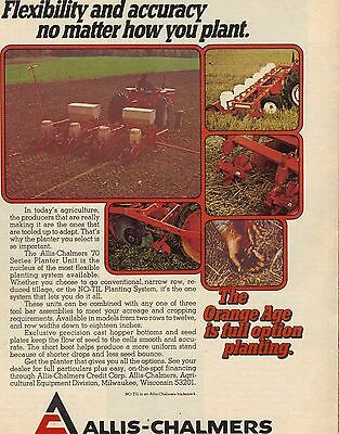 Original 1974 Allis-Chalmers Planter Magazine Ad