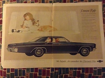 Original 1966 Chevrolet Impala Two Page Magazine Ad