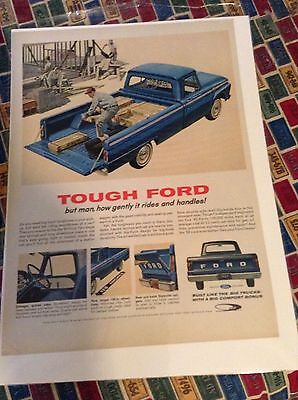 Original 1964 Ford Pickup Magazine  Ad - Tough Ford